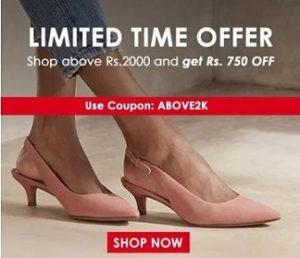 Bata Footwear – Shop above Rs.2000 Get Rs.750 Off @ Bata
