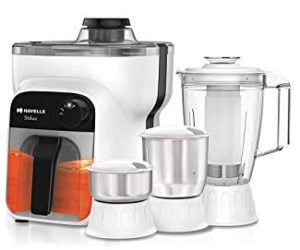 Havells Stilus 500 Watt Juicer Mixer Grinder with 4 jar