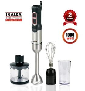 Inalsa Hand Blender With Chopper 1000 W Hand Blender for Rs.2659 – Amazon
