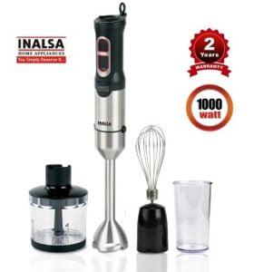 Inalsa Hand Blender With Chopper 1000 W Hand Blender