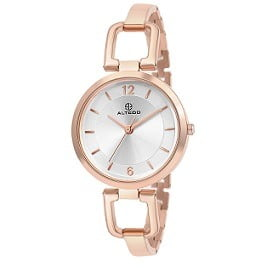 ALTEDO Analogue Rose Gold Silver Dial Women Watch for Rs.639 @ Amazon