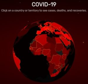 Countrywise data on COVID-19 infected people in the World