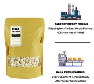 Dua Cashew Nuts Plain Whole Kaju 1 Kg for Rs.799 – Amazon (Factory Price)
