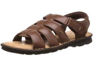Hush Puppies Men Rebound Leather Sandals