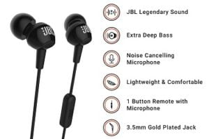 JBL C100SI In-Ear Deep Bass Headphones with Mic for Rs.599 – Amazon