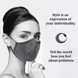 OxiClear Pollution Mask N99 with a Built-in Anti Bacterial-Activated Carbon Filter, Reusable for Rs.349 – Amazon