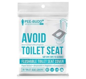 PeeBuddy Flushable and Disposable Paper Toilet Seat Covers 20 Seats
