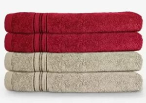 Swiss Republic Cotton 460 GSM Hand Towel (Pack of 4)