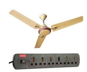 Urja Lite 70W Aluminium Golden Brown Ceiling Fan, 1200mm with EGK Extension Cord for Rs.919 – Moglix