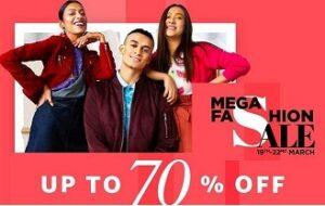 Amazon Mega Fashion Sale: 50% – 70% off on Fashion Styles + 10% Extra Off