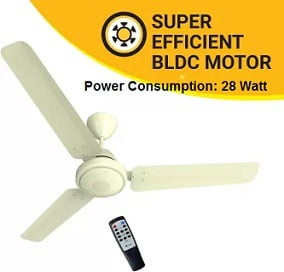 Atomberg Efficio Energy efficient 1200 mm BLDC Motor with Remote 3 Blade Ceiling Fan for Rs.2942 (3 Yrs Onsite Warranty) – Amazon
