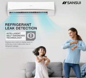 Sansui 1.5 Ton 3 Star Split AC with PM 2.5 Filter Copper Condenser for Rs.25490 @ Flipkart