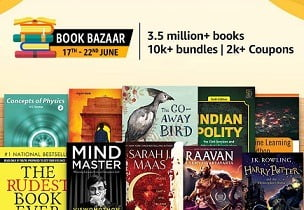 Amazon Book Bazaar: Deep Discount + Extra 10% off with SBI Credit Card (Valid till 21st June)
