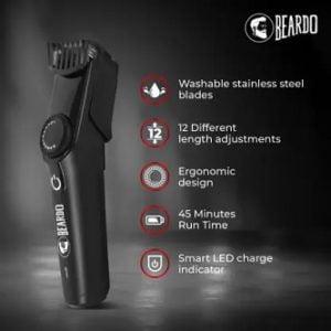 Beardo BD-TMET01 Runtime 45 mins Trimmer for Rs.599 – Flipkart