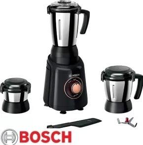 Bosch TrueMixx Bold MGM4331BIN 600 W Mixer Grinder, 3 Jars for Rs.3199 – Flipkart
