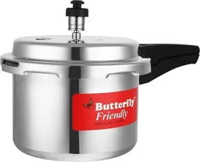Butterfly 3 L Induction Friendly Bottom Pressure Cooker for Rs.529 – Flipkart