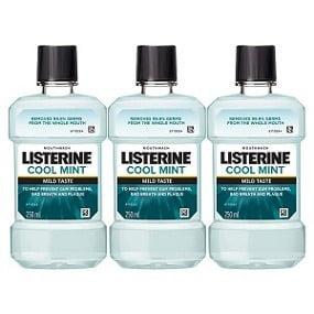 Listerine Cool Mint Mild Taste Mouthwash (250ml x 3) for Rs.244 – Amazon