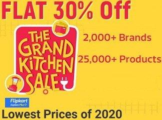 The Grand Kitchen Sale – Flat 30% Off  on Kitchen & Home Appliances + 10% BOB Credit Card @ Flipkart