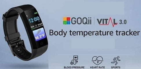 GOQii Vital 3.0 Body Temperature Tracker with 3 months personal coaching for Rs.3799 – Amazon