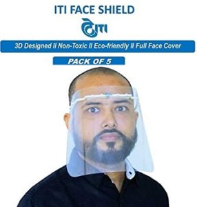 ITI Limited Face Shield 3D designed Eco friendly (Pack of 5) for Rs.199 – Amazon