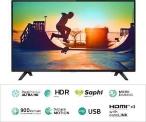 Philips 126cm (50 inch) Ultra HD (4K) LED Smart TV for Rs.29999 – Flipkart