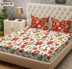 Stellar Double Cotton Bedsheet upto 70% off + Extra 10% – 15% Off @ Flipkart