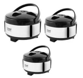 Classic Essentials Hot & Cold set of 3 Casserole (2700 ml, 2000 ml, 1500 ml) for Rs.799 @ Flipkart