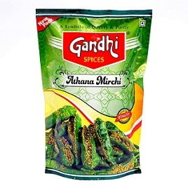 Gandhi Green Chilly Pickle, 400 g for Rs.75 – Amazon
