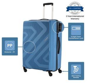 Kamiliant by American Tourister KAM Kiza Polypropylene 55 cms Ash Blue Hardsided Cabin Luggage for Rs.1999 – Amazon