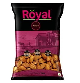 Royal Dry Fruits California Almond (1 Kg) for Rs.770 – Amazon
