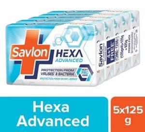 Savlon Hexa Advanced Soap 125g x 5