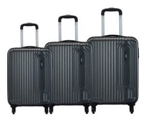 VIP Trace Graphite Polycarbonate Hardsided Luggage Set of 3 Small, Medium & Large for Rs.7799 – Amazon