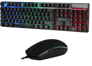 Zebronics Zeb-War Gaming USB Keyboard and Mouse for Rs.727 – Amazon