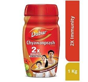 Dabur Chyawanprash 2X Immunity 1kg with Dabur Honey 50 g Free