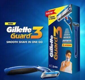 Gillette Guard 3 Shaving Combo (1 Razor + 8 Cartridges) worth Rs.340 for Rs.199 @ Flipkart