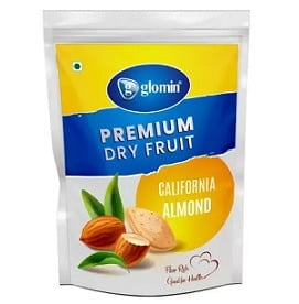 Glomin 100% Natural Premium Californian Almonds (1 kg) for Rs.699 @ Flipkart