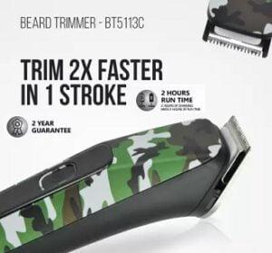 Havells BT5113C Trimmer Runtime 120 min for Rs.899 @ Flipkart