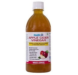 HealthVit Apple Cider Vinegar with Mother Vinegar, Unfiltered and Undiluted 500 ml