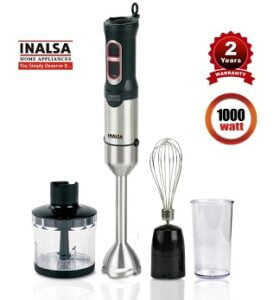 INALSA Robot Inox 1000 Watt Hand Blender with 600 ml Multipurpose Jar for Rs.2605 @ Amazon