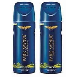 Park Avenue Tranquil Deodorant Spray (200 g x 2) for Rs.197 @ Flipkart