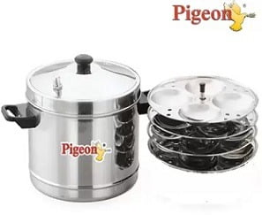 Pigeon Stainless Steel 4 Plates Induction & Standard Idli Maker for Rs.650 @ Flipkart