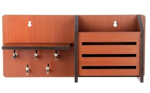 Sehaz Artworks Side-Shelf Pocket Wooden Wall Decorative Key Holder for Rs.399 @ Amazon