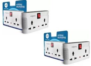 Wipro 4 way multi plug with 2 universal sockets (Pack of 2)