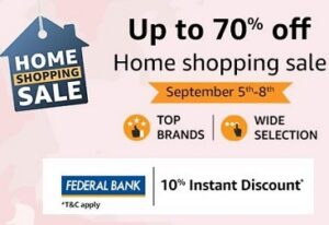 Amazon Home Shopping Sale: Home & Kitchen Products upto 70% off