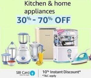 Kitchen & Home Appliances Upto 30% - 70% Off
