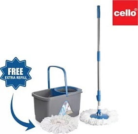 Cello Kleeno Total Clean 360 Degree Bucket Spin Mop for Rs.649 @ Flipkart