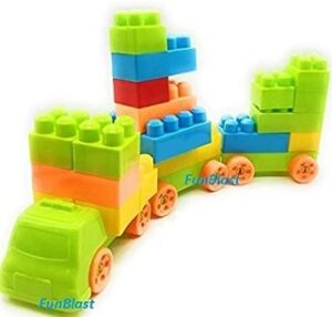 FunBlast Building Blocks for Kids with Wheel 50 PCS Bag Packing for Rs.370 @ Amazon