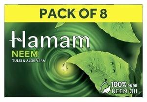 Hamam Neem Tulsi & Aloe Vera Soap (150 g x 8) for Rs.275 @ Amazon