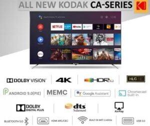 Kodak 164cm (65 inch) Ultra HD (4K) LED Smart Android TV for Rs.45999 @ Flipkart
