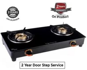 Lifelong LLGS118 Glass Manual Gas Stove (2 Burners) for Rs.1399 @ Flipkart